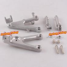 Aleación de aluminio Trasero de Pasajeros Estriberas Reposapiés Soportes para YAMAHA YZF R6 03-05 R6S 06-10, motocicleta piezas de Repuesto Accesorios