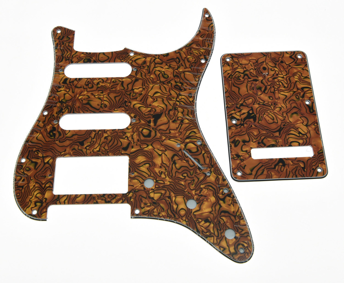 Tiger Stripe ST Style HSS Pickguard Scratch Plate Back Plate Screws
