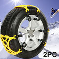 2 PCS Automobile snow chain Tire Anti skid Chains Thickened Beef Tendon Wheel Antiskid TPU Chain for car tire 165-285