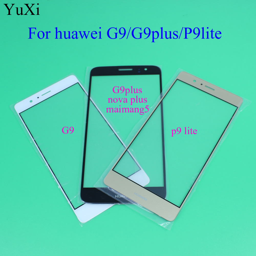 YuXi Touch Screen Glass Lens For Huawei G9 /G9 Plus / P9 Lite Front Outer Glass Lens Replacement Parts with White/Black/Gold