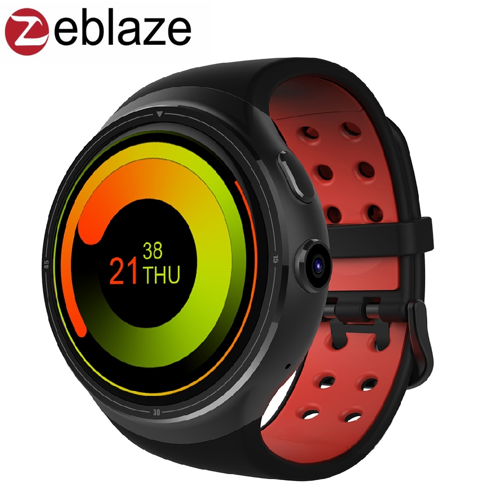 imágenes para Zeblaze THOR 1.4 pulgadas Super AMOLED pantalla Gorilla de CORNING Glass3 Más Grande 1 GB RAM 16 GB 3G WIFI GPS Inteligente reloj Smartwatch Android Teléfono