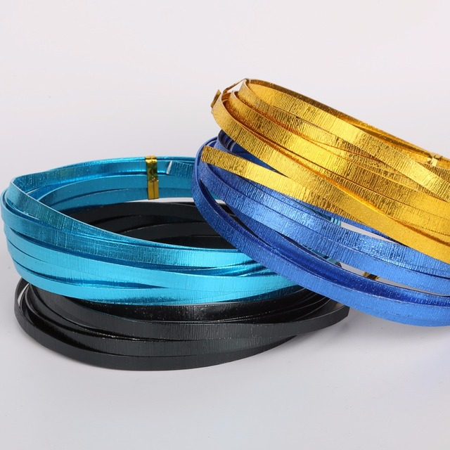 Hot Sale Multicolor 5mm*1mm Embrossed Flat Aluminum Wire Soft Metal ...