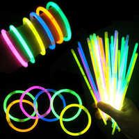 Mix Color Fluorescence Glow Sticks Safe Light Stick Bracelets Necklaces Glow Party Supplies Luminous toys for Xmas Halloween