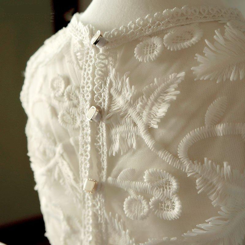 Flower Girl Dresses För Bröllop Ivory Vintage Kids Födelsedagssida - Bröllopsfestklänningar - Foto 6