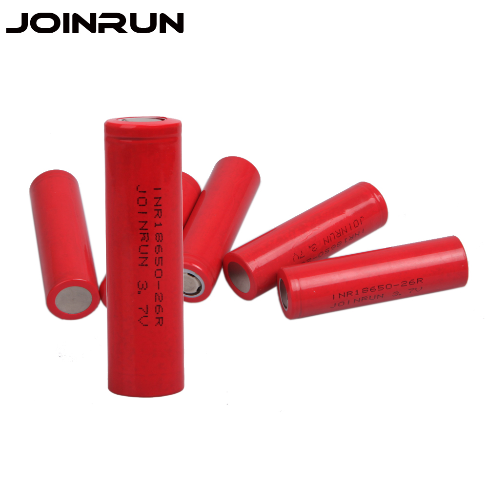 Joinrun 18650 Battery 2 PCS 3.7V 2600mah Lithium Rechargeable Battery high performance li-ion battery for 18650 battery charger 18650 rechargeable lithium lifepo4 battery 1350mah