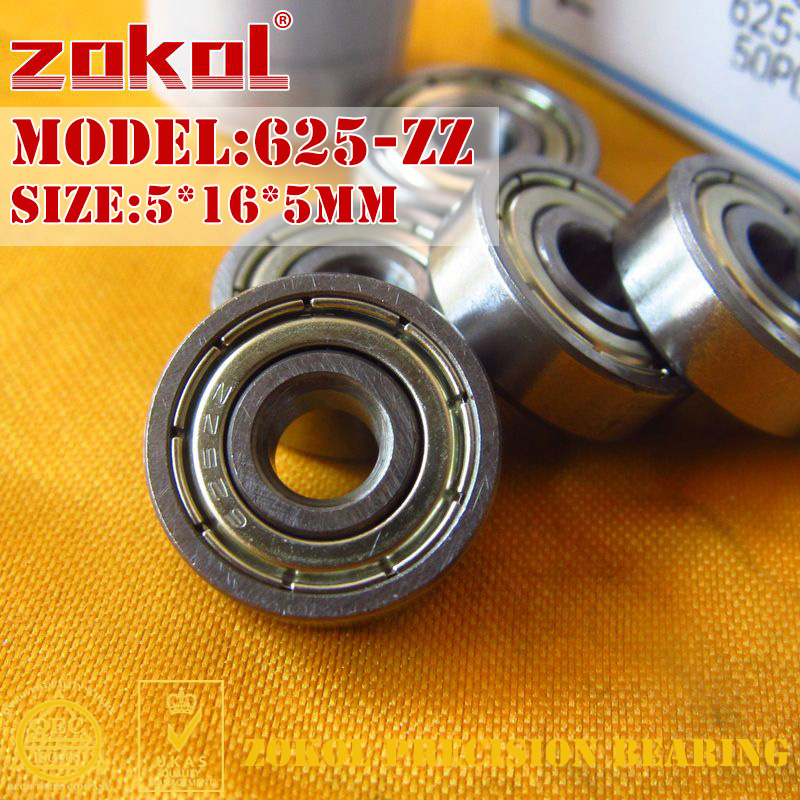 ZOKOL 625 ZZ Z1 P5Z4 Bearing 625ZZ 625z Miniature  Deep Groove Ball Bearing 5*16*5mm