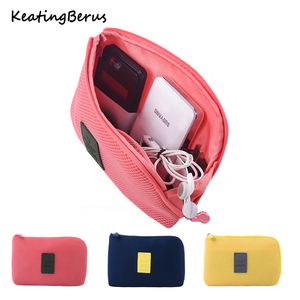 New Shockproof Travel bag Digital USB Charger Cable Earphone Case Makeup Cosmetic Organizer Accessories Bag