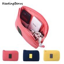 Nueva bolsa de viaje a prueba de golpes, cargador Digital USB, estuche para auriculares, organizador de cosméticos para maquillaje, bolsa de accesorios