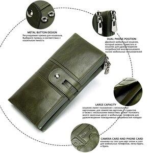 Image 3 - WESTAL 100% kadın cüzdan hakiki deri kadın debriyaj uzun cüzdan bayan cüzdanlar ve çantalar Portomonee para çanta para kesesi