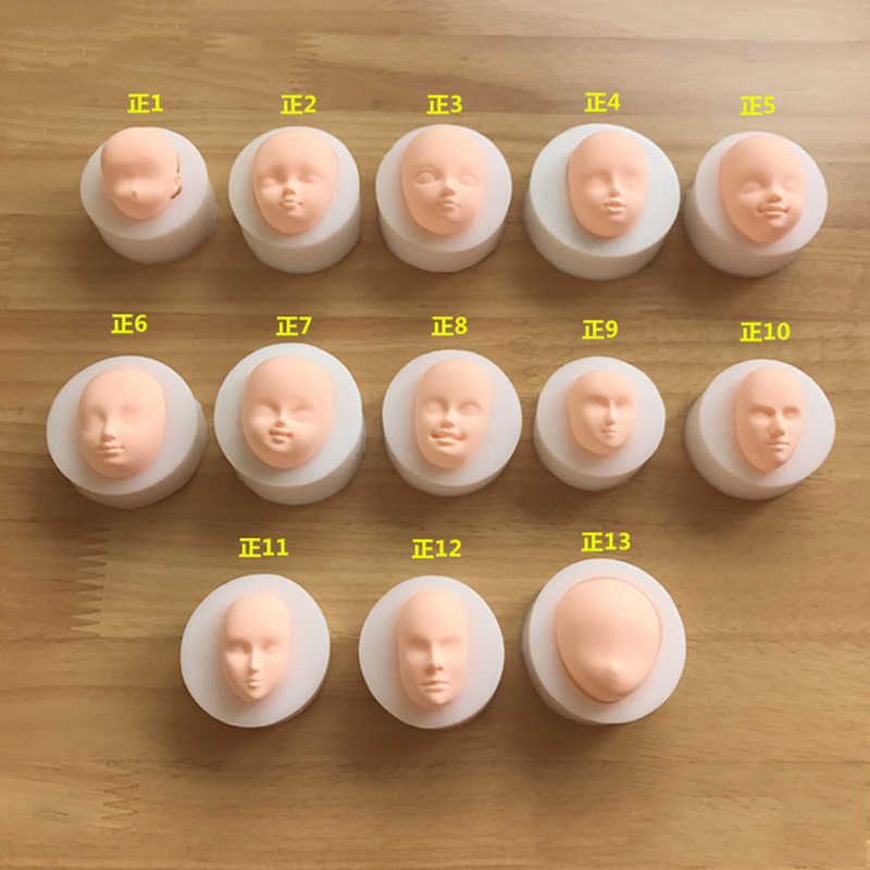 1 ชิ้น 3D Baby Face Soft Clay