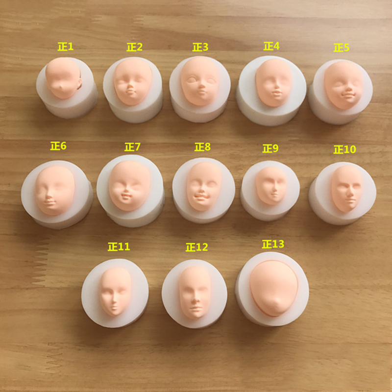 1pcs 3D Baby Face Soft Clay Mold Tools Silicone Mold Cake Chocolate Candy Baking Mold Fondant Cake Decorating Tools