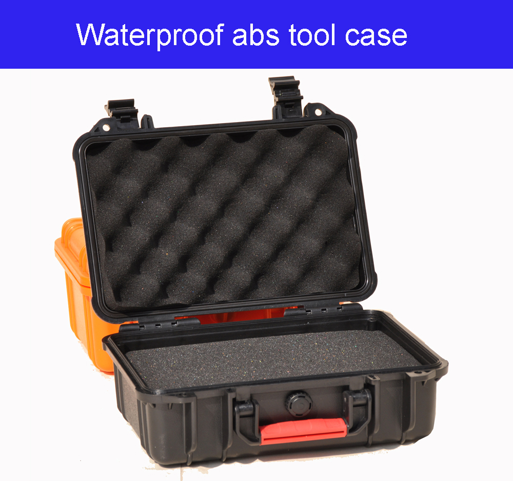 High Quality Protective Abs Tool Case Toolbox Suitcase Impact Resistant Sealed Waterproof Camera Case With Pre-cut Foam Lining