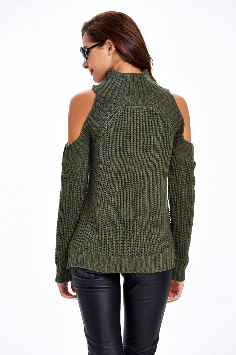 Online Shop Timmiury Autumn Sexy Women Sweaters Turtleneck Off The ...
