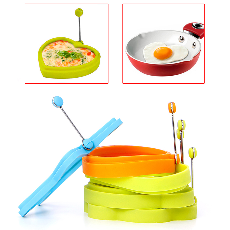 Kitchen Silicone Fried Egg Moulds Biscuit tools Pancake Star Cat Flower Heart Round Shape Cookie Food Mould New Creative cocina
