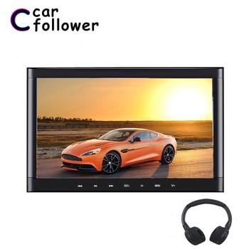 Car Follower 10.1 Inch Car Headrest Monitor Touch Button 1024*600 DVD Player Support HDMI/USB/SD/IR/FM Transmitter/Speaker/Games