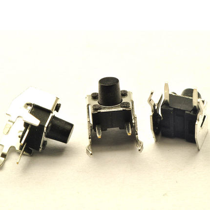 20pcs/lot 6x6x6MM Right Angle 4PIN Tactile Tact Push Button Micro Switch Direct Plug-in Self-reset DIP