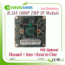 H.265/H.264 2MP 1080P FULL HD CCTV Network IP Camera Module POE Optional Upgrade Your CCTV Camara, Onvif Good IR Night Vision