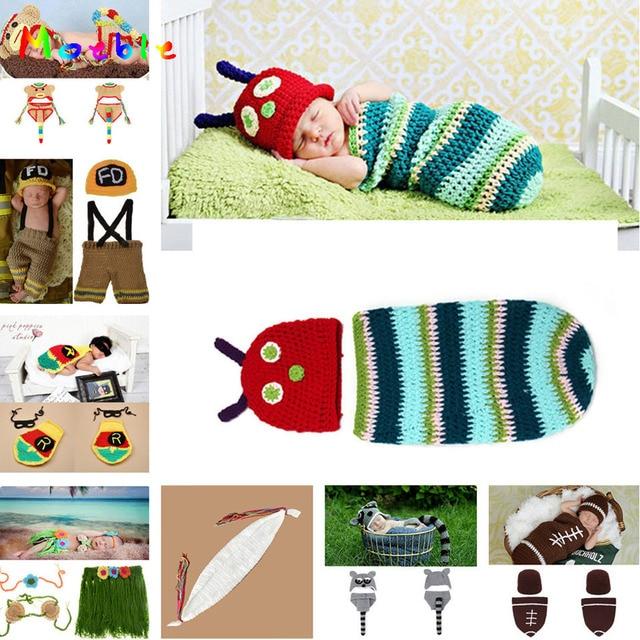 Einzelhandel Gestreiften Raupe Baby Häkeln Hüte Und Kokon Sets