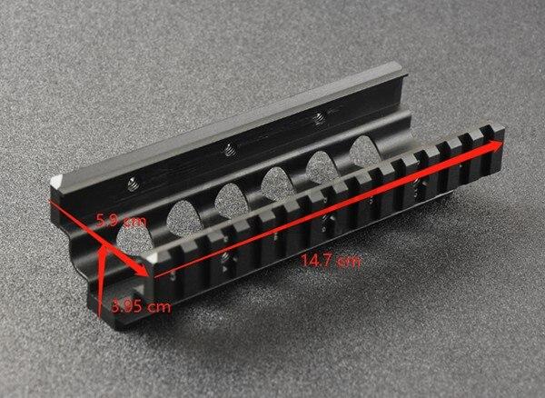 M249 Inférieur et Supérieur Monture Protège-main 6 pièces RIS Système de Rails de Rail Quadruple Support CNC M8189 - 3