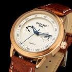 DEEPRED Men's Analog Display Men Quartz Watches Mens Brown Leather Strap Watches Men