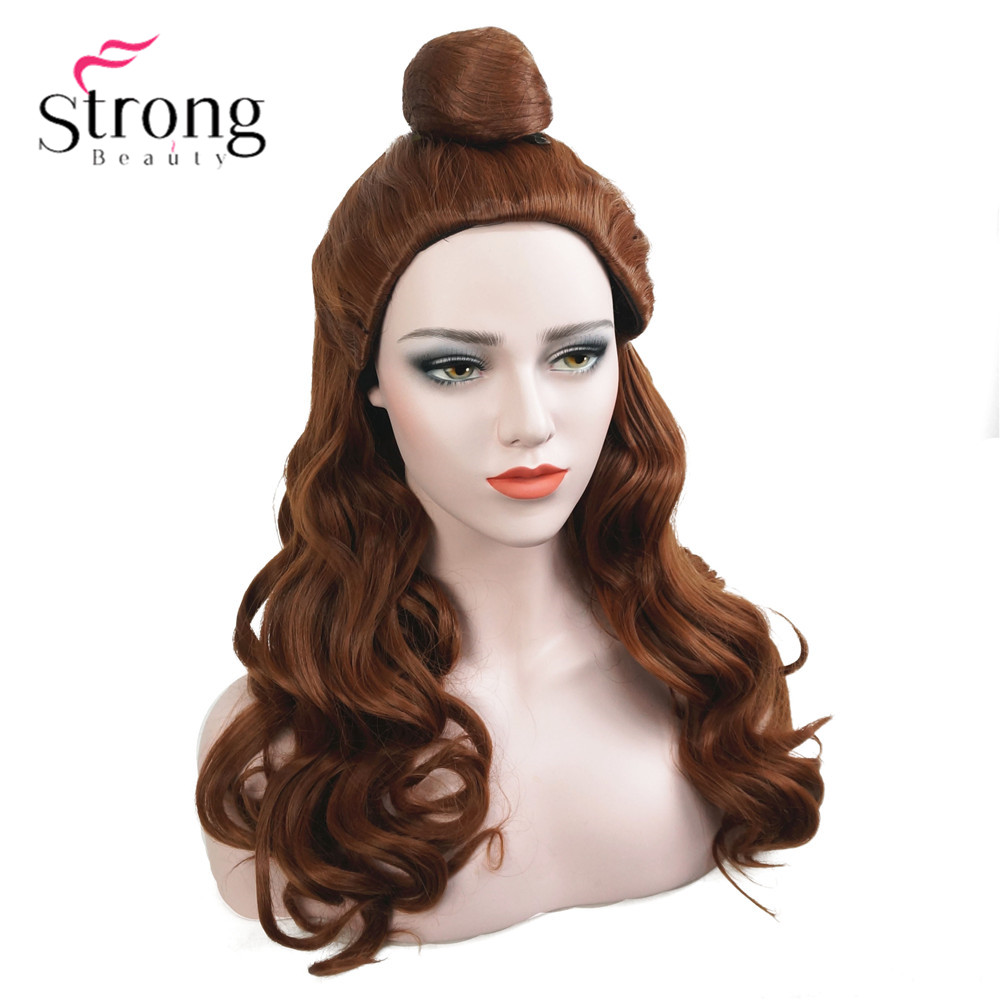 StrongBeauty Natural Long Body Wave And The Beast Princess Cosplay Wig For Halloween Party ...