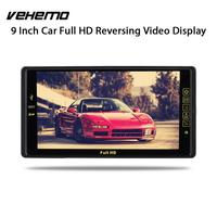 Vehemo 9 TFT LCD Car Headrest Monitor Two Way Video Player Monitor Portable Headrest Dvd Player Hands Free Call Digital TV