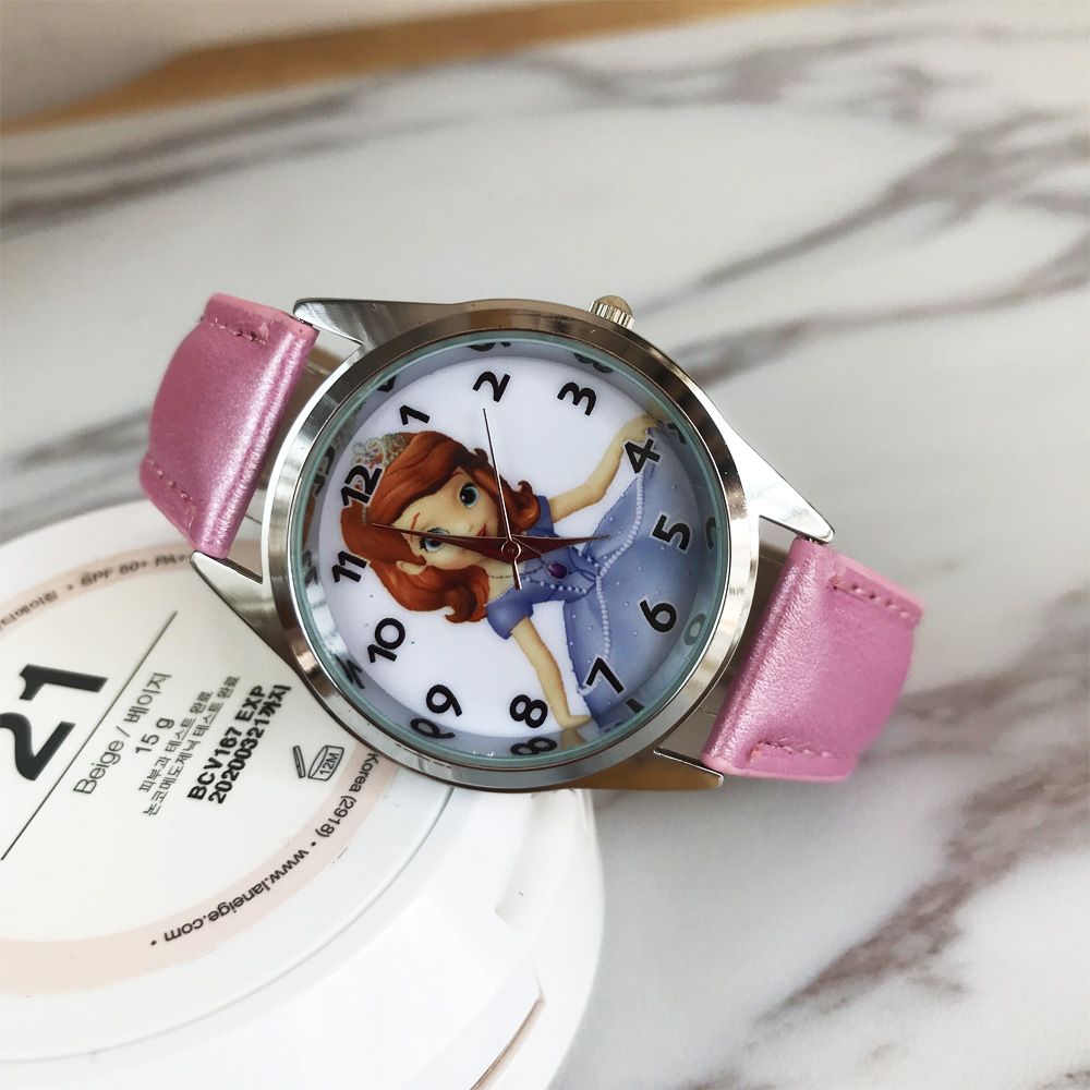 2017 Hot 3D long haired princess prince cartoon kids font b watches b font ladies men