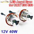 2 Peças (1 Conjunto) 2*20 W 40 W LED Marcador Angel Eyes CREE LEVOU Chips de 7000 K XENON Branco para E39 E53 E60 E61 E63 E64 E65 E87