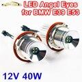 2 Unidades (1 Unidades) 2*20 W 40 W LED Marker Angel Eyes CREE Chips LED 7000 K XENON Blanco para E39 E53 E60 E61 E63 E64 E65 E87