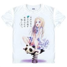 Cute Girl Anime Anohana T-shirt Honma Meiko Cosplay Traje Transpiración Camiseta Hombres de La Moda de Las Mujeres Remata camisetas