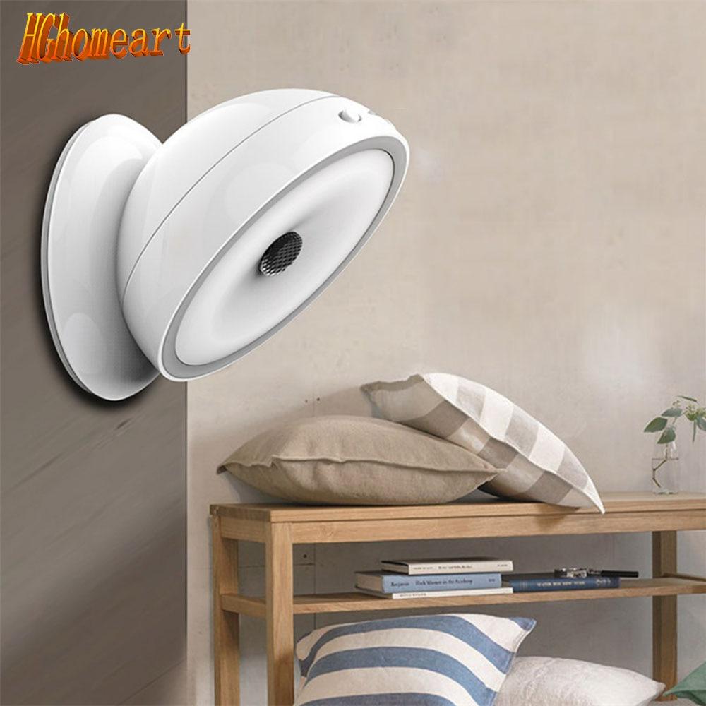 ФОТО LED Light Sensor Night Light 360 Degree LED Rotary Sensor Light Charging Bedroom Corridor Lighting
