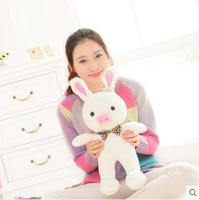 Free Shipping 1pcs 50cm Special Cute Soft Anime Pig Rabbit Cuddly Sleep Plush Animal Doll Hold