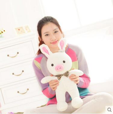 Free shipping 1pcs 50cm special cute soft anime pig rabbit cuddly sleep plush animal doll hold pillow stuffed toy birthday gift stuffed animal 90 cm plush dolphin toy doll pink or blue colour great gift free shipping w166