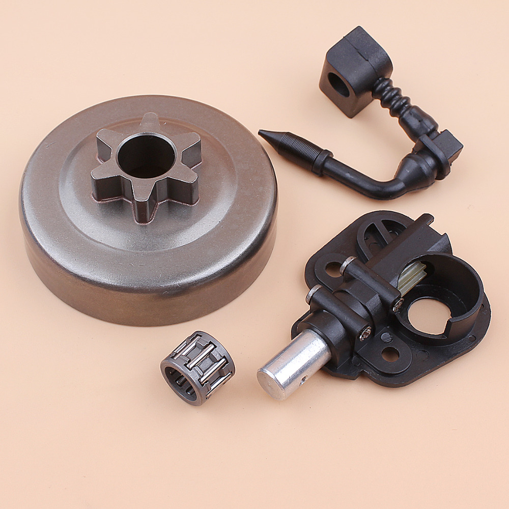 "3/8"" Clutch Drum Sprocket Oil Pump Kit For Partner 350 351 352 370 371 390 420 Chainsaw Replacement Parts 530047061 530071259"
