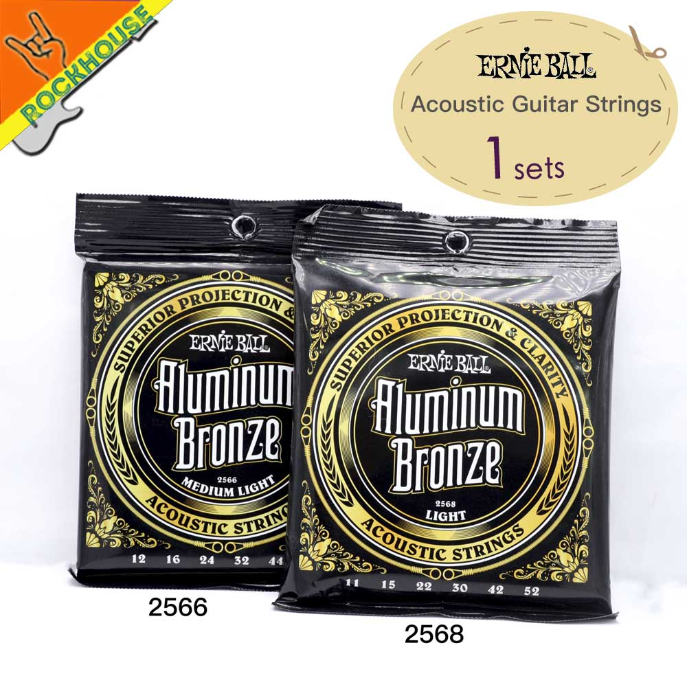 1sets Ernie Ball Aluminum Bronze Acoustic Guitar Strings Professional level High-end Guitarra String Made in USA Free Shipping