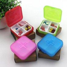 Многофункциональный 4 Сетки Коробка для таблеток портативный дорожный органайзер для хранения витамина контейнер для хранения