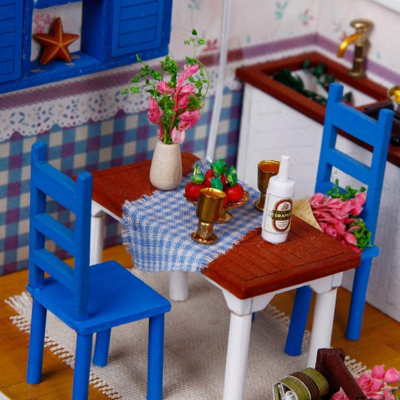 CREO casa de muñecas DIY casa de muñecas de madera miniatura - Muñecas y accesorios - foto 6