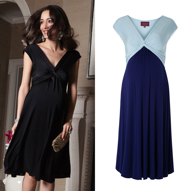 Spring and summer new European and American fashion V neck sexy pregnant women vest dress summer maternity dress
