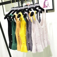 2018 Embroidery Sweater 12 Colors Camis Autumn Winter New Korean V Neck Sweater Lace Up Hot Sale China Girl Fashionable