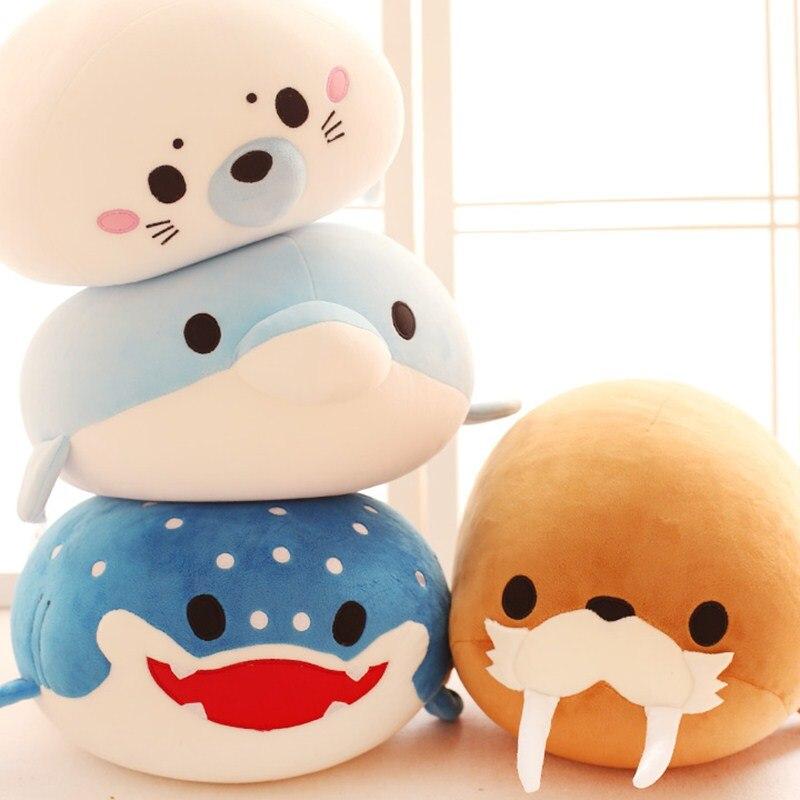 Cute Dolphin, Seals, Walruses, Killer Whales, Whale Sharks Plush Toys, Ocean Alliance Children Doll Dolls Foam Particles