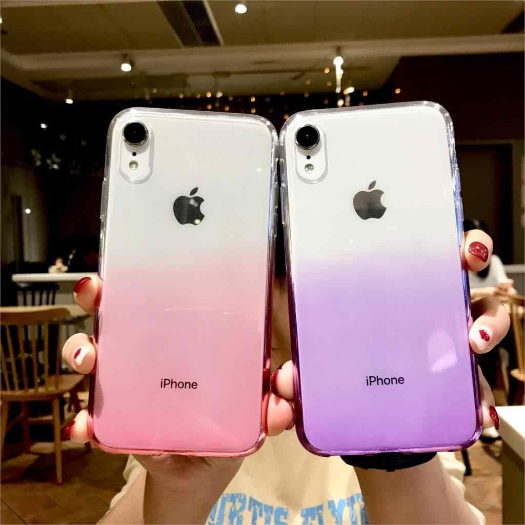 Kolorowe tęczowe etui do iphone XR etui iphone SE 5S 6 6 S 7 8 Plus X XS MAX okładka silikonowe OnePlus 3 3T 5 5T 6 miękkie futerały na telefony