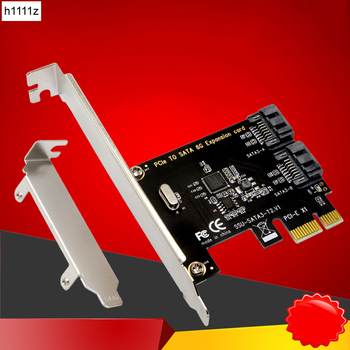 H1111Z PCI-E SATA 1X 4X 8X 16X PCI-E tarjetas PCI Express a SATA 3,0 2 puertos SATA III 6Gbps tarjetas de adaptador de expansión añadir en tarjetas