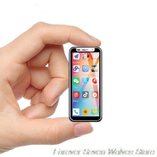 Pocke Mini 4G Smartphone Melrose 2019 identification d'empreintes digitales ultra-mince 3.4 pouces MTK6739 1 GB 8 GB Android 8.1 plus petit téléphone portable étudiant
