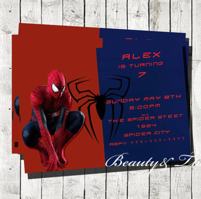 personalized spiderman party invitations spiderman invites birthday