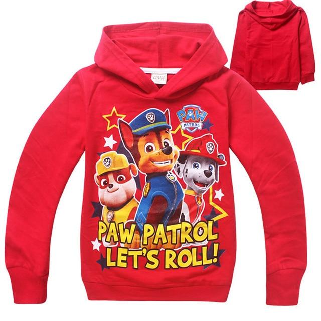 Spring Cotton Kids Boys Hoodies Casual Full Sleeve Boys Sweatshirts Cartoon Patrol Sweater Children Boys Jumpers Felpe Ragazzo
