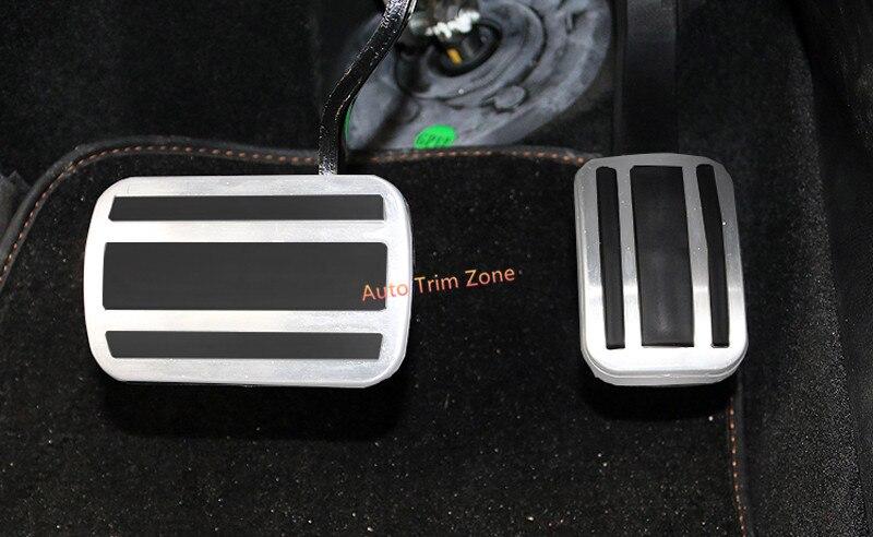 2 pièces En Métal Intérieur Pédale De Frein Pédales Pad Couverture Garniture Pour Peugeot 3008 GT 2017 boîte automatique