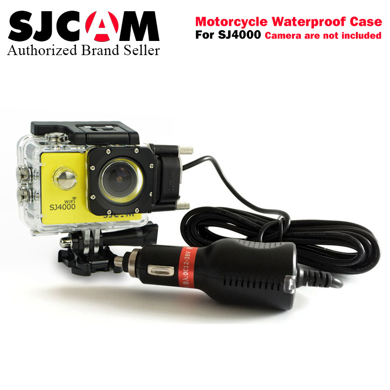 SJCAM Motorcycle Waterproof Case for SJCAM SJ4000 Series Charging Case sj cam SJ 4000 wifi Action Camera Accessories