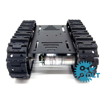 Assembling T10 Mini Tracked Intelligent Tank Car Robot Education Tank Car Model