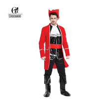 ROLECOS Men and Women Pirates Halloween Costumes Pirates of the Caribbean Cosplay Costumes Halloween 15 Style Pirate Costumes
