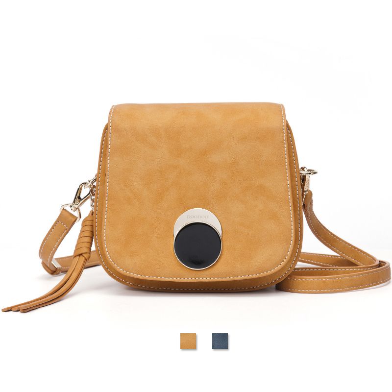 ФОТО DOODOO Desinger Women's Crossboday Shoulder Bag Saddle Tassel Bags Luxury Brand Quality Ladies Leather Vintage Messenger Bag